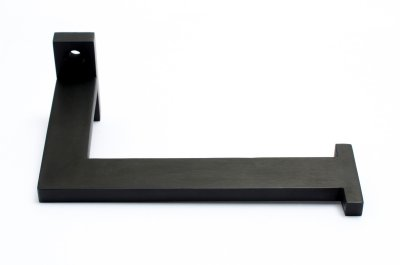 Toilet paper holder in black almunium for the bathroom