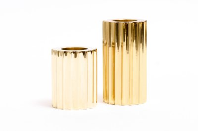 Candle sticks holder in gold 5 and 7 cm high