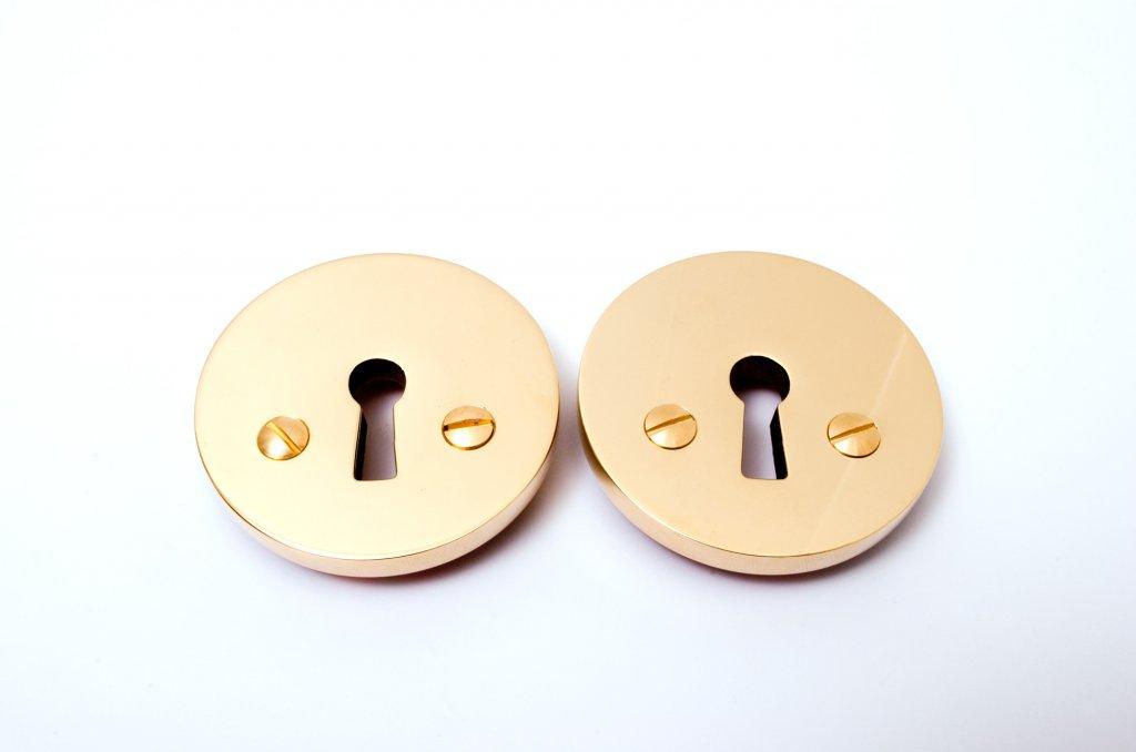 Polished Brass Keyhole Escutcheon